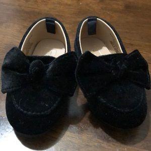 Toddler girl loafers black suede